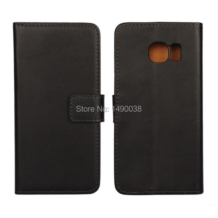 Högkvalitativt äkta läder-flipfodral för Samsung Galaxy S6 Edge - Reservdelar och tillbehör för mobiltelefoner - Foto 1