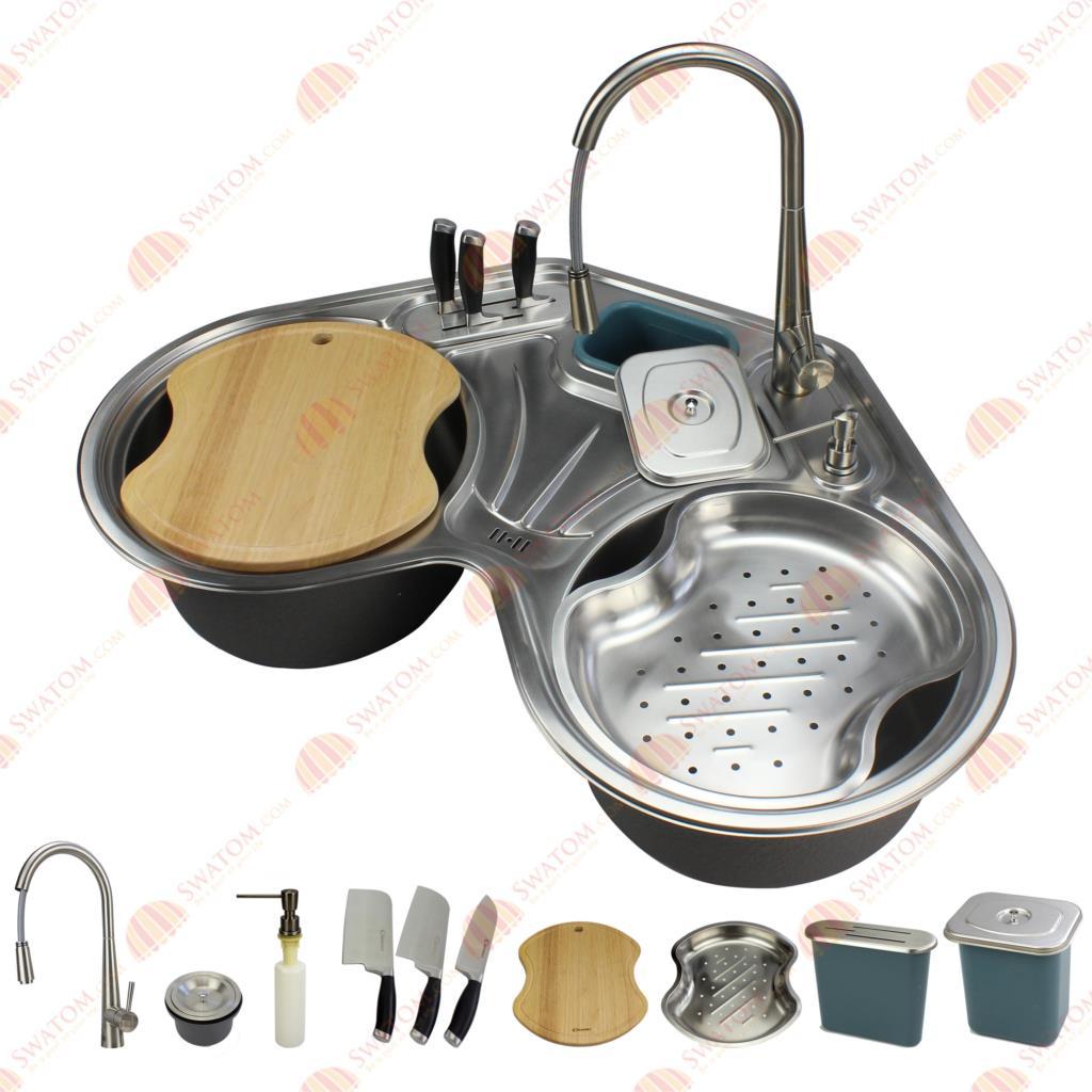Stainless Steel Corner Kitchen Sink Promotion-Shop for Promotional ...