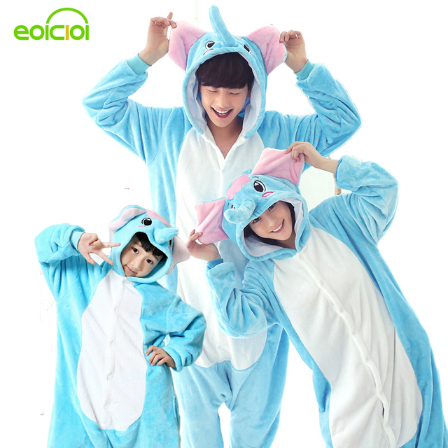 Family christmas pajamas winter Warm Animal mother daughter pajamas mother son outfits girl boys sleepwear woman onesie kids