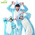La familia de la navidad invierno Cálido Animal madre madre hijo hija pijamas trajes de chicas chicos ropa de dormir mujer onesie niños
