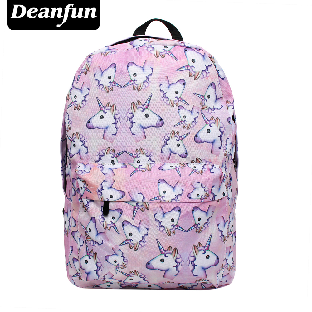 Deanfun Women Backpacks with Printing Unicorn Pink Girls Schoolbags Cute Gift for Teenagers SB-90