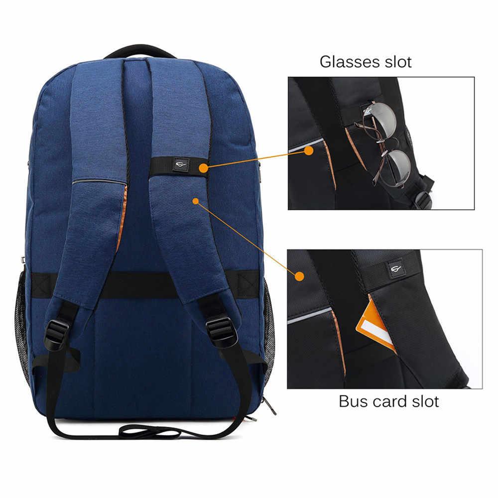 POSO рюкзак 17,3 дюймов USB ноутбук рюкзак из нейлона водонепроницаемый рюкзак Противоугонная дорожная сумка модный студенческий рюкзак