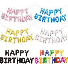 2 Set/pack Happy Birthday Letter Aluminum Balloon Set Party Background Wall Decoration 16 Inch