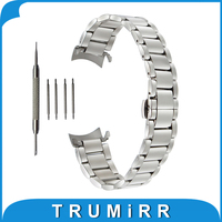 18mm 20mm 22mm Stainless Steel Watchband For Rolex Curved End Strap Butterfly Buckle Belt Wrist Bracelet