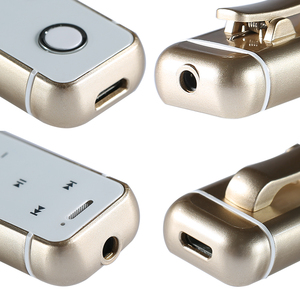 Image 5 - JISNERTA Draadloze Mini Bluetooth Headset Sport Auriculares Speakerphone Draagbare Koptelefoon Clip Draadloze Handsfree Mic Handset