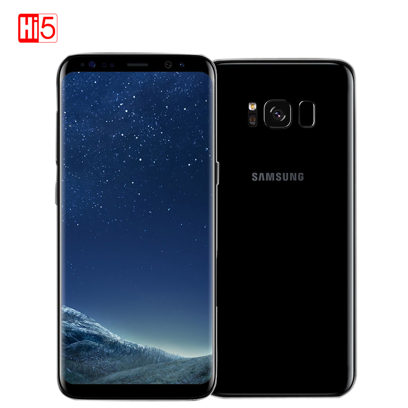 Разблокирована Samsung Galaxy S8 4 ГБ ОЗУ 64 ГБ ROM одной сим Восьмиядерный 5,8 дюймовый дисплей android отпечатков пальцев смартфон мобильный телефон