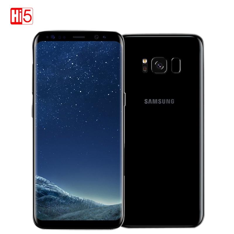 Débloqué Samsung Galaxy S8 4 gb RAM 64 gb ROM Unique Sim Octa Core 5.8-pouces affichage android D'empreintes Digitales smartphone mobile téléphone