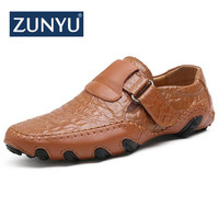 ZUNYU 2018 New Comfortable Casual Shoes Loafers Men Shoes Quality Leather Shoes Men Flats Hot Sale Moccasins Shoes Size 38 48