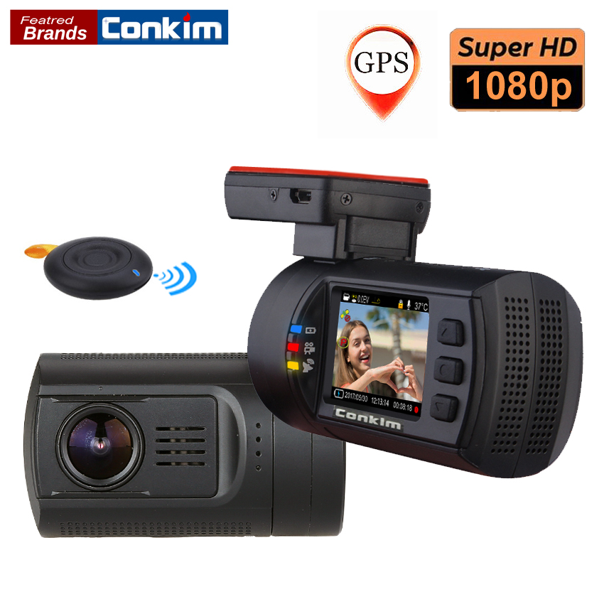 Conkim DVR Car Dash Camera Novatek 96663 1080P 60FPS Ultra HD Digital Video Recorder Super Capacitor Registrar Cam Mini 0906s conkim novatek 96655 dvr dash cam camera wifi gps auto registrar 1080p full hd video recorder 24h parking guard mini 0903 nanoq