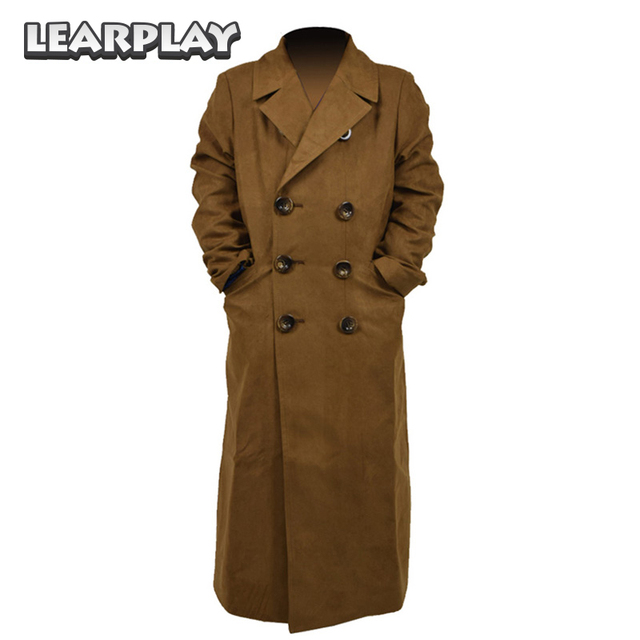 Doctor Who Trench Coat Cosplay Costume Brown Long Suede Halloween Outfit for Kids  sc 1 st  AliExpress.com & Doctor Who Trench Coat Cosplay Costume Brown Long Suede Halloween ...