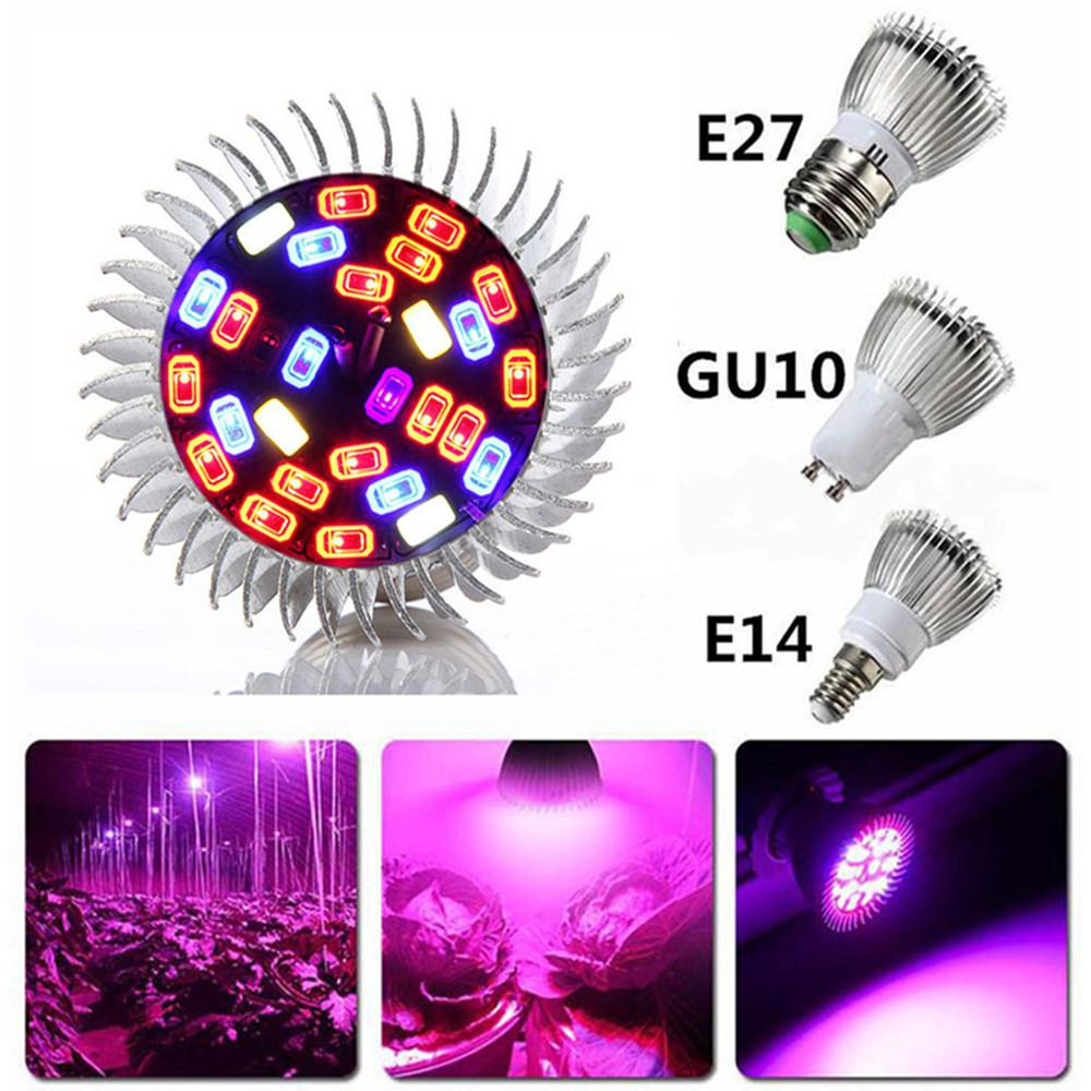 5730SMD LED Promoting Plants Growth Lamp Bulb AC 85-265V E27, E14, GU10 18W 28LED