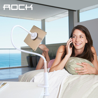 Rock Magnetic Tablet Phone Stand For IPad Mini Air Samsung For IPhone Long Arm Bed Universal