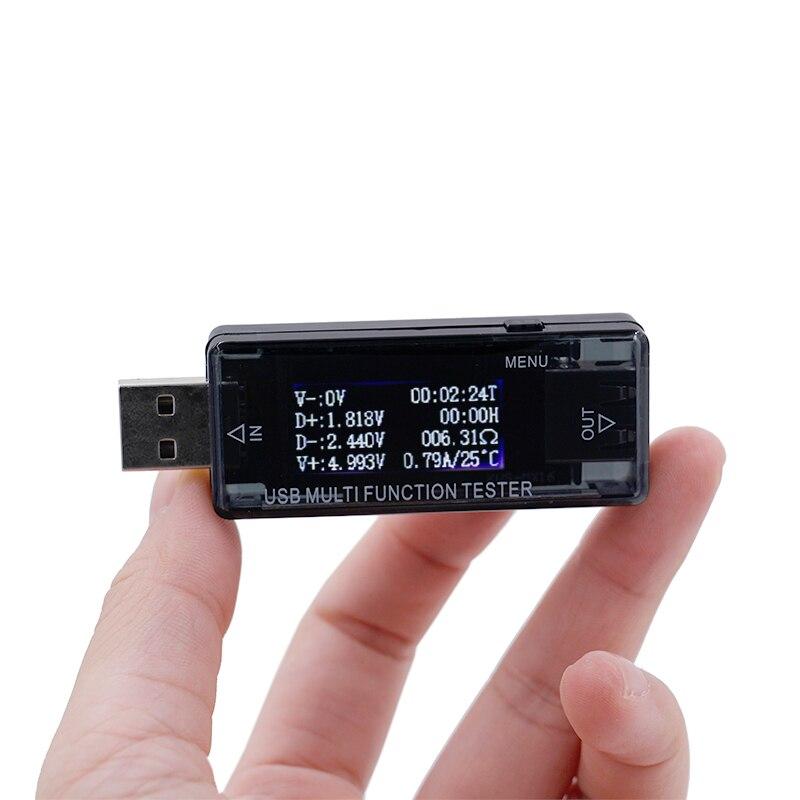 USB 4 ~ 30 V Voltmètre ampèremètre QC2.0 rapide chargeur Batterie testeur de courant tension mètres capacité moniteur Puissance Banque détecteur 20%