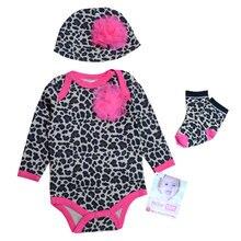 Комплект одежды для маленьких девочек; комбинезоны с длинными рукавами; боди для малышей; Комплект носков с шапочкой
