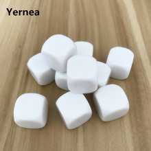 Yernea 50Pcs/Lot High-quality 20mm White Blank Dice Can Write and Children Interesting Teaching DIY Design Set Wholesale