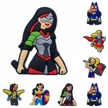 1PCS Magnetic Fridge Magnet Cartoon Figure DC Super Hero Girls Hero of the Year PVC Refrigerator Magnet Whiteboard Sticker цена и фото