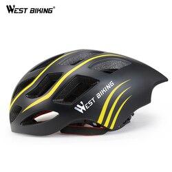 Zachód jazda na rowerze fajne jazda na rowerze kask zintegrowany 54-60 CM Ultralight oddychająca aerodynamiczny na świeżym powietrzu Capacete Casco MTB szosowe kask rowerowy