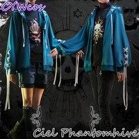 Black Butle Ciel Phantomhive Twins Cospaly Costume Men Uniforms Costumes Fashion Daily Suits Coat+Pants+Shirt