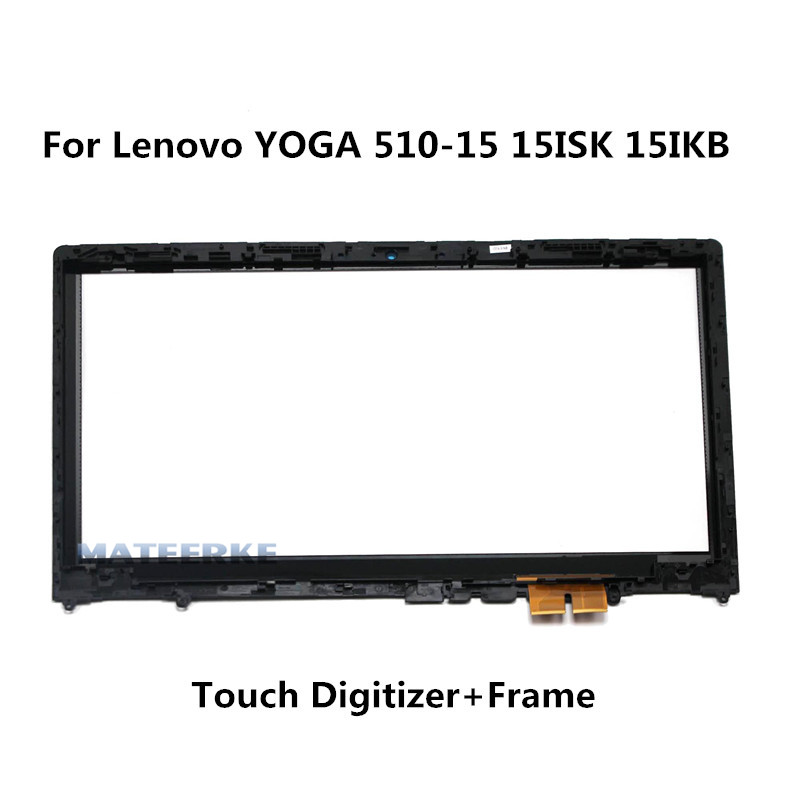 Laptop Touch Screen Panel Digitizer Sensor Glass with Bezel For Lenovo Yoga 510-15 Yoga 510-15ISK 80S8 SR Yoga 510-15IKB 80VC стоимость