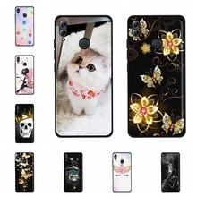 For Huawei Honor 10 Lite Case Soft TPU Leather HRY-LX1 HRY-LX2 Cover Cat Pattern Bag