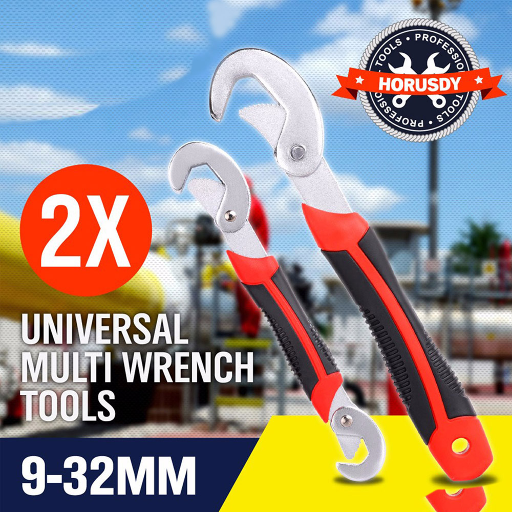 HOT!2pcs Multi-function Adjustable Wrench 9-32MM Fixture Set Universal Key Ratchet Torque Wrench a Set of Keys YAD1029 xkai 14pcs 6 19mm ratchet spanner combination wrench a set of keys ratchet skate tool ratchet handle chrome vanadium