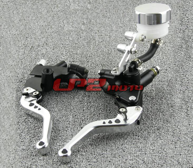Free Shipping Suitable for 7 / 8'' 22mm Motorcycle Brakes Clutch Brake Levers Master Cylinder - - Silver