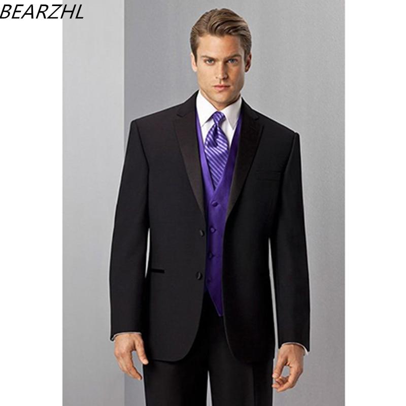 672a9a0d8 € 126.04 |Para Hombre Trajes de diseño para wedding tuxedo negro por  encargo 3 unidades traje hombres 2017 moda en Trajes de La ropa de los  hombres ...
