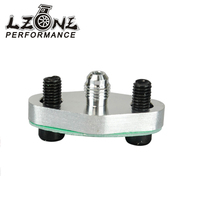 LZONE RACING - Turbo Oil Feed Inlet Flange Gasket Adapter Kit 4AN 4 AN Fitting T3 T3/T4 T04 JR-OFG31