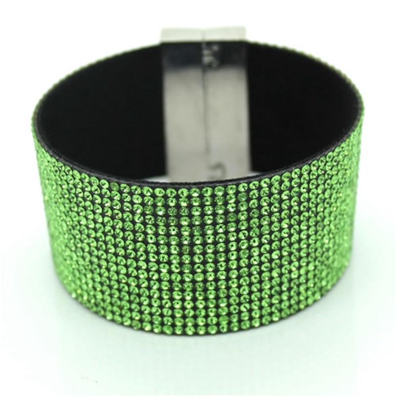 XQNI brändi klassikaline kristallnahast käevõru käevõru 19cm - Mood ehteid - Foto 4