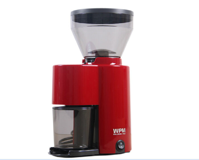 220v welhome Burr conical coffee grinder,coffee mill for home with high quality and elegant design(red or green color) 500g brazil santos green coffee beans high quality original green slimming coffee tea green coffee bean lose weight