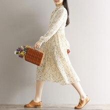 Korean Floral Print Chiffon Dress
