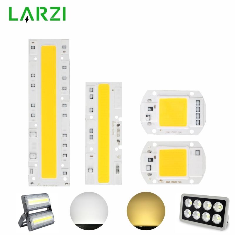 LARZI COB LED Lamp Chip 110V 220V 10W 20W 30W 50W 70W 100W 120W 150W Input Smart IC No Driver LED Bulb Flood Light Spotlight