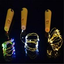 1M 10LED 2M 20LED Warm White LED Cork Wine Bottle Lamp Fairy String Light Stopper For Xmas Party Wedding Hallowee