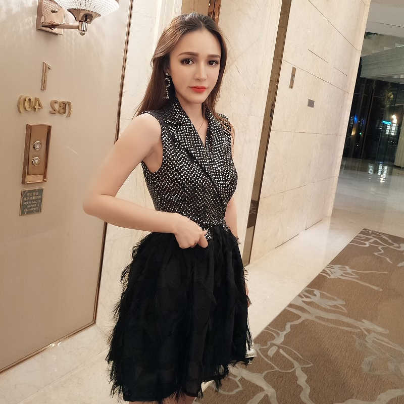 e782d1543b Detail Feedback Questions about MUXU Summer New Sleeveless Feather ...