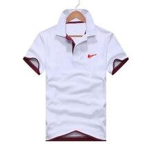 ملابس للرجال 2019 أفضل الرجال قميص بولو نمط قصيرة الأكمام قميص بولو 14 لون القطن الألياف قميص بولو رياضي غير رسمي