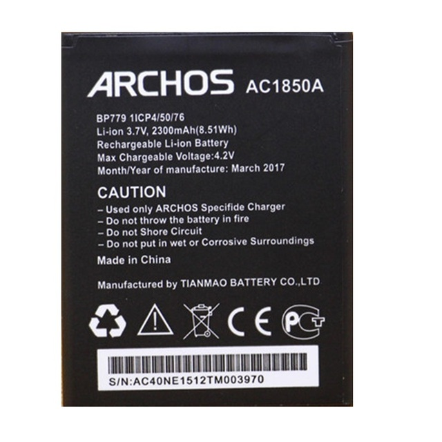 3c6dbc0c5468d0 AC1850A Battery for Archos 50c NEON Mobile Phone Baterij New Li-Ion  Rechargeable Batteries Pack Replacement+Track Code