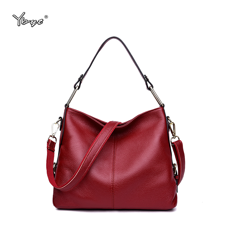 100% Echtem Leder Frauen Tasche Mode Rindsleder Leder Handtaschen Hohe Qualität Totes Große Kapazität Damen Schulter Messenger Taschen
