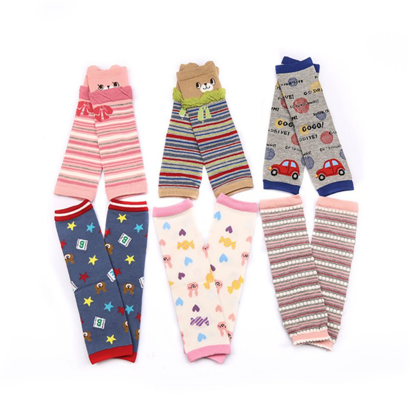 New 1 Pairs Baby Cartoon Leg Warmers Kneepads Warm Cotton Socks 3D Bear 0-5yrs