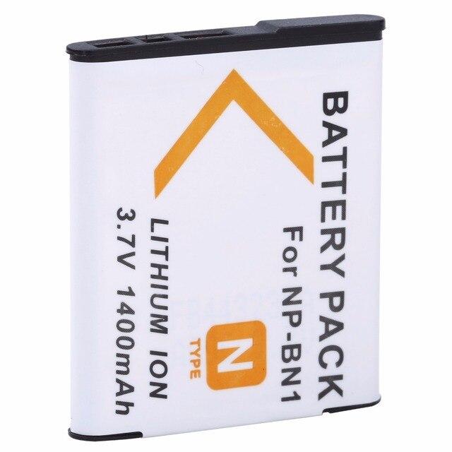 1400mAh NP BN1 NP BN1 Camera battery For Sony DSC W380 W390 DSC W320 W630 TX5 DSC W530 DSC W570 DSC W650 DSC W800 DSC W830