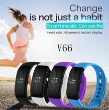 V66 Bluetooth SmartWatch Спорт Смарт часы IP68 Водонепроницаемый монитор сердечного ритма браслет умный браслет здоровья для iOS и Android