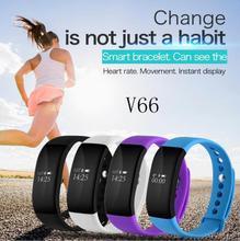 V66 Bluetooth font b Smartwatch b font Sport Smart Watch IP68 Waterproof Heart Rate Monitor Wristband
