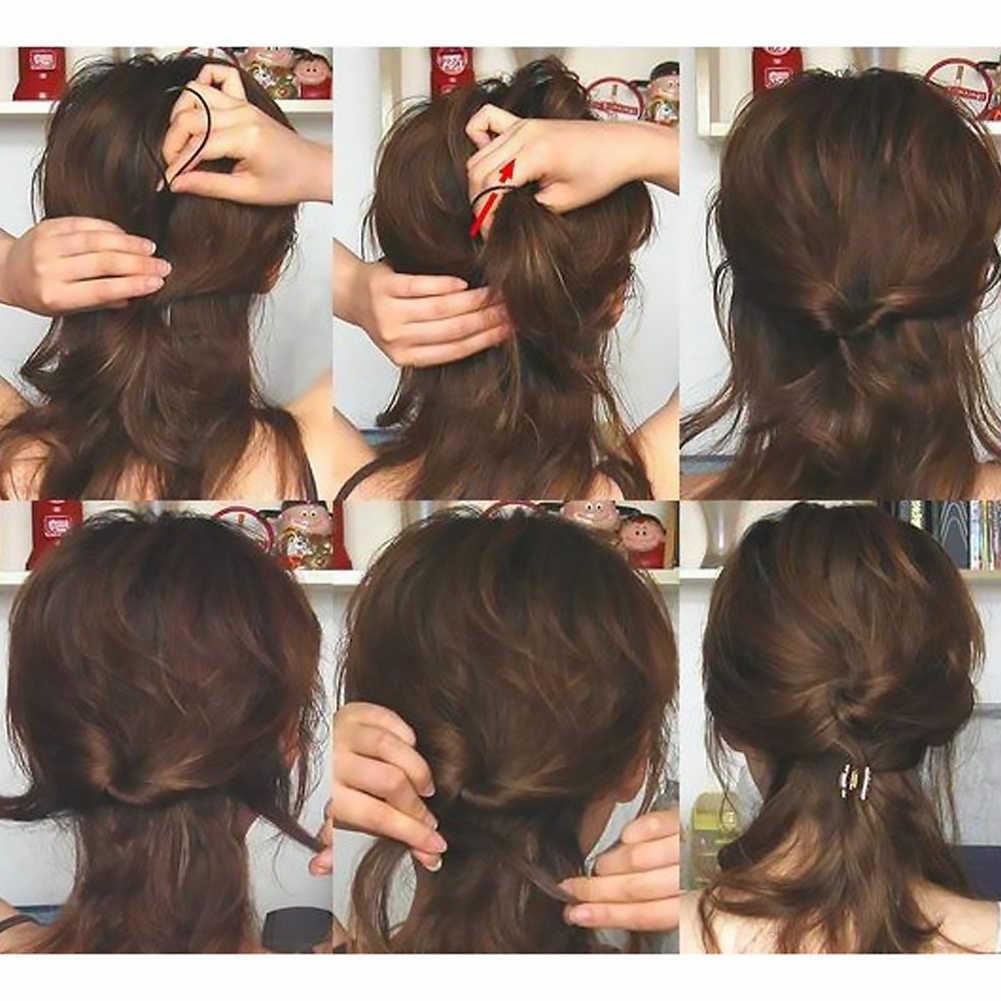 2 uds. Accesorios de Trenza para el cabello, pinza de estilo de cola de caballo, herramienta de trenza francesa, Kit mágico para el cabello para mujeres (negro)