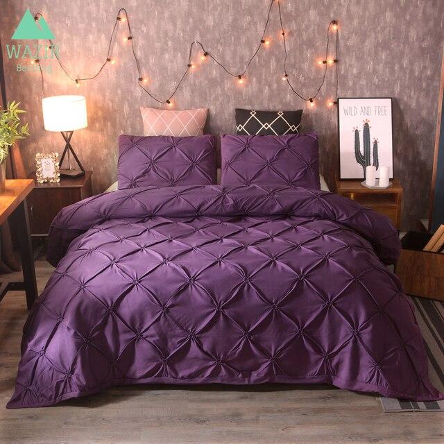 WAZIR sang trọng Pinch Pleat bộ đồ giường comforter bộ đồ giường bộ giường ngủ giường ngủ linen duvet cover set bộ đồ giường nữ hoàng vua chăn mền kích thước giường đặt