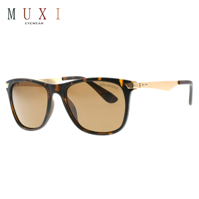2f3439b8db MUXI Free Shipping high quality classic style smoke brown color metal frame  square uv400 polarized sunglasses. Price