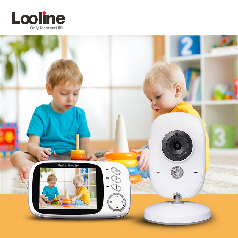 Baby Montiors 3.2 Inch Baby Nanny Security Camera Night Vision Looline Temperature Monitor Video Nanny Bebe Radio babysitter джером к дж трое в лодке не считая собаки лучшие главы three men in f boat to say nothing of the dog best chapters cd
