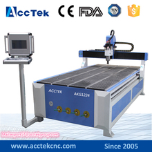 Jinan Acctek 1224 wood carving lathe , wood machine for frame , cnc router for wood carving with computer