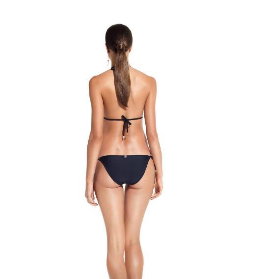 Geometric Pattern Triangle Style Bikini with Tie Side Bottoms  2