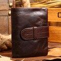 Mens Wallet Genuine Leather Money Organizer Vintage Oil Waxing dagarcik With Credit Card Holder Famous Brand Cuzdan