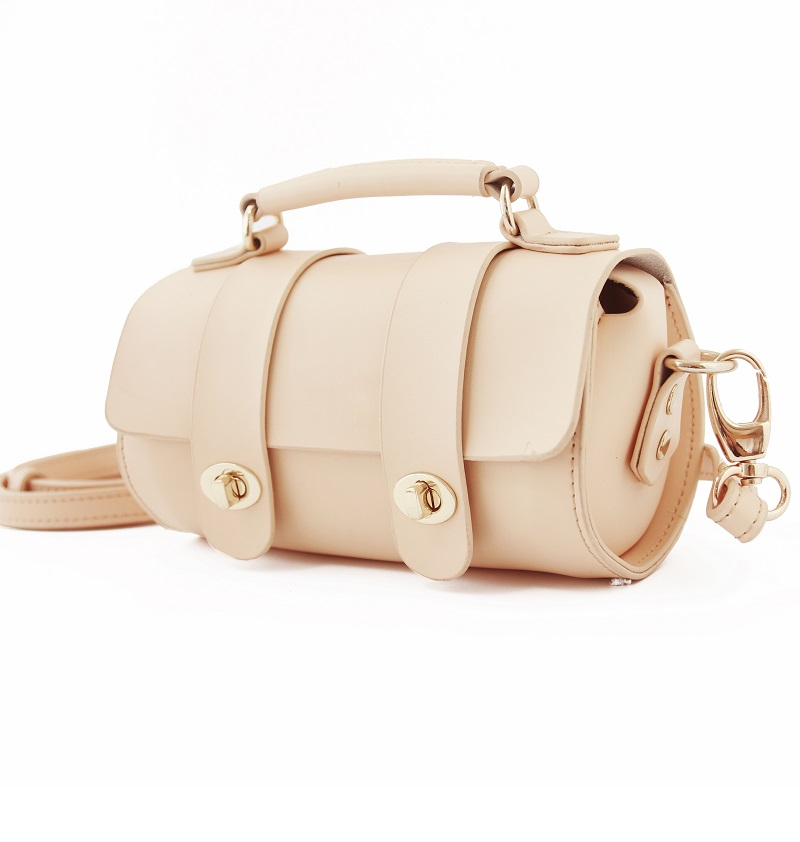 2016 Teeinco new arrival cowhide girl's messenger bag barrel shaped one shoulder bag women's genuine leather handbag LY-0175
