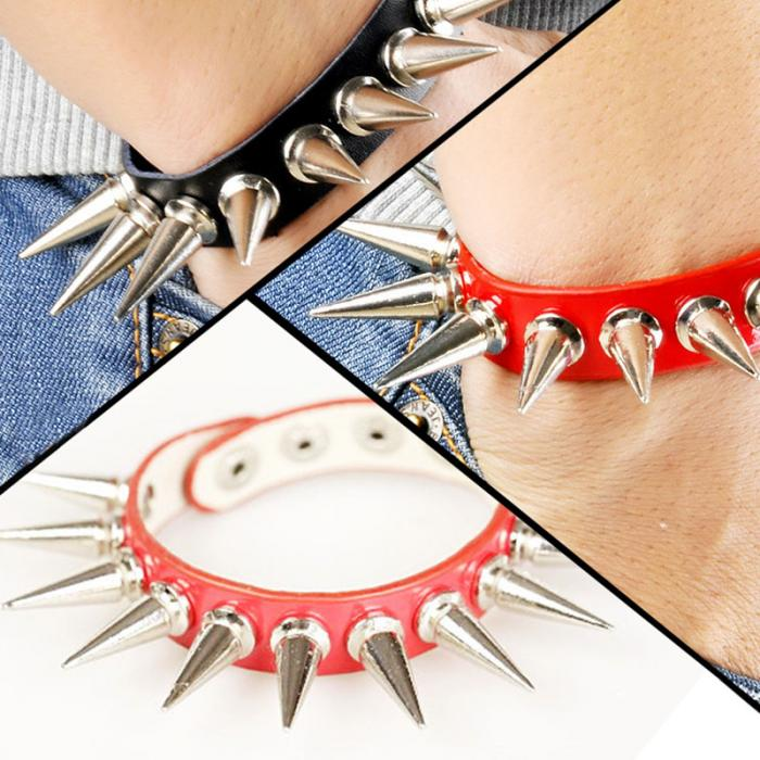 HTB12k97QXXXXXcOaXXXq6xXFXXXF - Unisex Alternative Style Long Spikes Bracelet